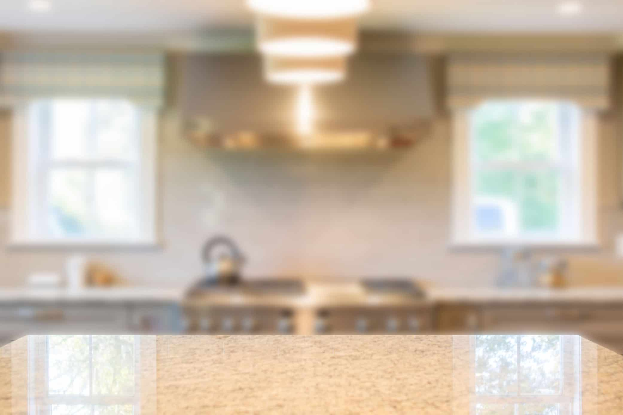 contemporary kitchen blurred out