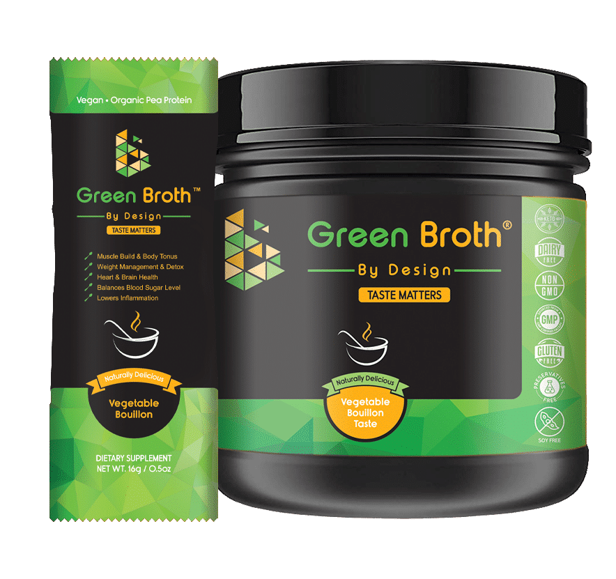 green broth by design jar and sachet vegetable bouillon taste